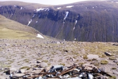 Collection of wreckage on Braeriach from Blenheim Z7356