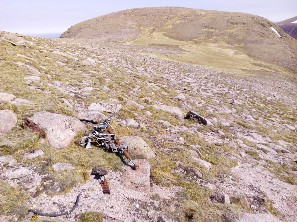 Wreckage from Blenheim Z7356 on Braeriach