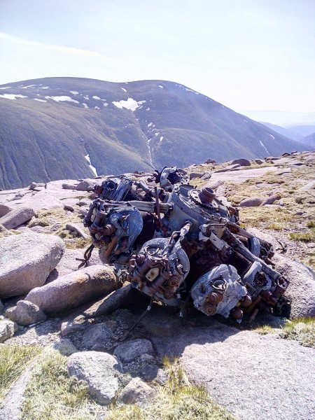 Engine from Blenheim Z7356 on Braeriach