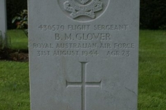 Flight Sergeant Bevil Milton Glover's grave