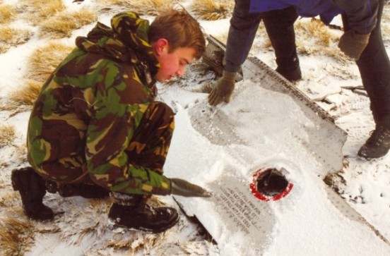 Section of wing from Sabre 19234 on Black Hill in December 2000