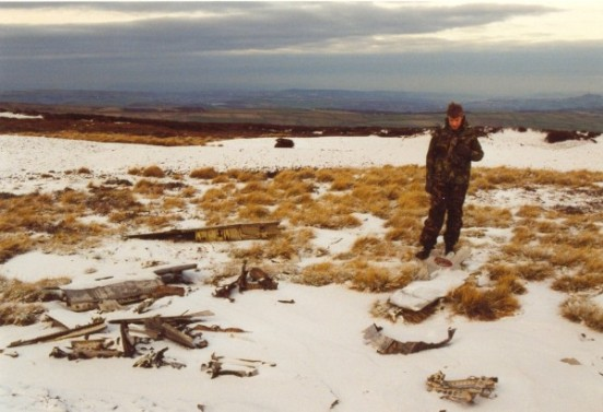 Crash site of Sabre 19234 on Black Hill in December 2000