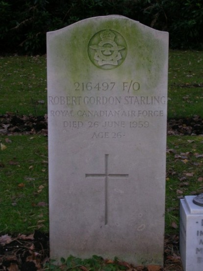 Grave of Flying Officer Robert Gordon Starling at Brookwood Military Cemetery, Surrey