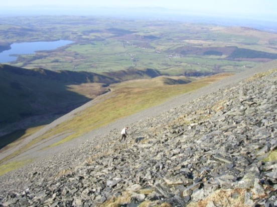 Crash site of B-17 41-9051 on the Skiddaw screes