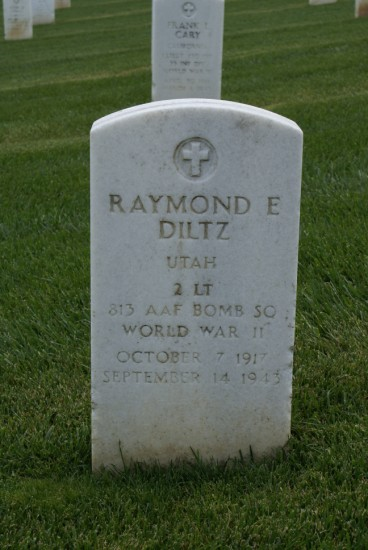 Grave of 2nd Lieutenant Raymond F. Diltz at the Golden Gate National Cemetery, San Francisco, California