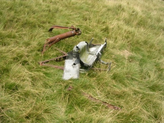 Undercarriage from Douglas C-47A 42-108982 on Shelf Moor, Bleaklow