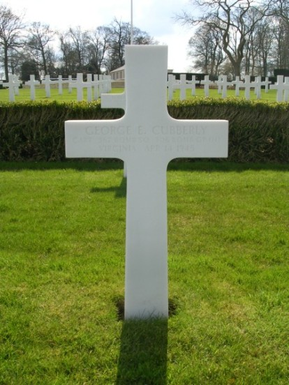 Grave of Captain George E. Cubberly at Cambridge American Cemetery