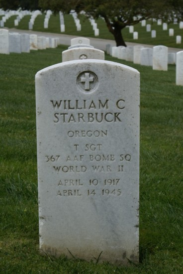 Grave of William C. Starbuck at Golden Gate National Cemetery, San Francisco, California