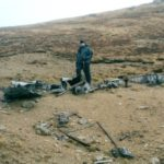 Crash site of Consolidated B-24 42-41030 on Beinn Nuis, Isle of Arran