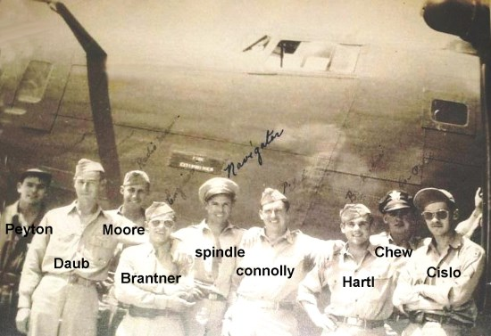 Crew of Consolidated B-24 42-41030 while in the USA