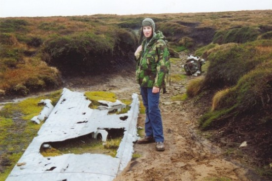 Section of wing near the crash site of Consolidated B-24 Liberator 42-52003, Mill Hill, Hayfield, Derbyshire