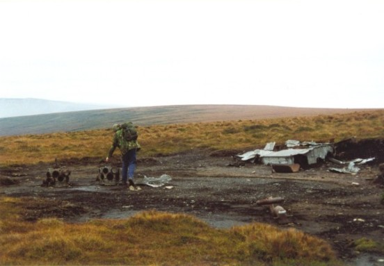 Crash site of Consolidated B-24 Liberator 42-52003, Mill Hill, Hayfield, Derbyshire