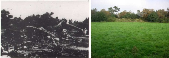 Crash site of Consolidated B-24 42-52625, Brown Edge, Staffordshire