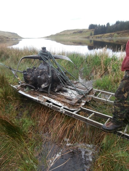 Crossing Craigton Burn with a Jacobs R-755 from UC-78A Bobcat 42-58513