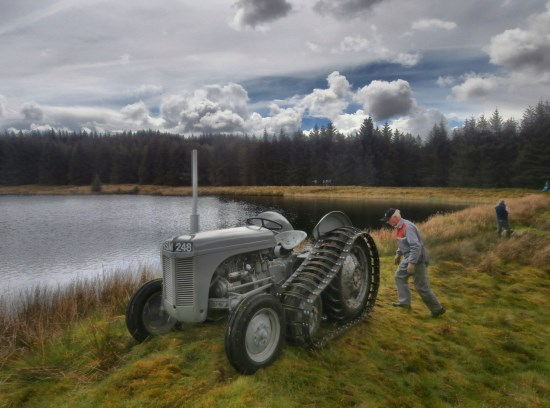 1954 Massey Ferguson TED 20 half track tractor used in the recovery of Cessna UC-78A Bobcat 42-58512 from Craigton Hill, Milngavie