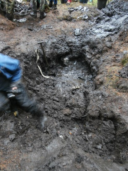 Excavation of the crash site of UC-78A Bobcat 42-58513 on Craigton Hill by the Dumfries and Galloway Aviation Museum