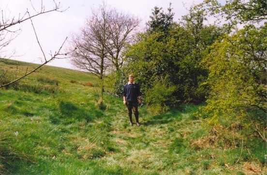 Alan at the crash site of Republic P-47D 42-74728 at Greenway Hall, Staffordshire