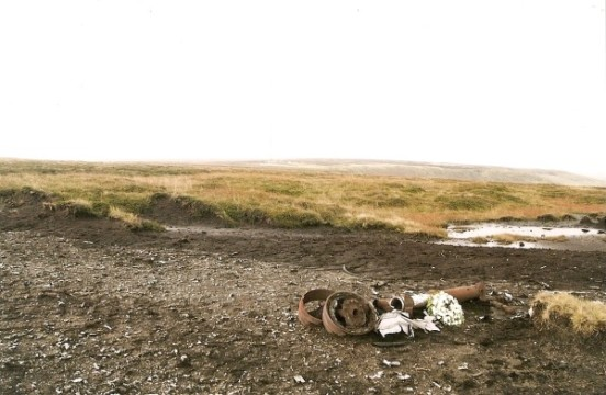 Crash site of Consolidated B-24H 42-94841 on Twizle Head Moss, Holmfirth