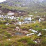 Main crash site of B-24H 42-95095 on Sidhean Mor near Gairloch, overlooking the Fairy Lochans