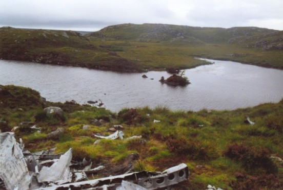 View from the crash site of B-24 42-95095 towards one of the Fairy Lochans