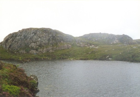 View towards the crash site of B-24H 42-95095 and the summit of Sidhean Mor