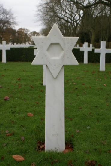 Grave of Gunner, Staff Sergeant Albert L. Natkin at Cambridge American Military Cemeter