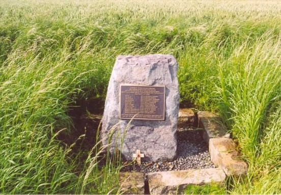 Memorial near the crash site of Boeing B-17G 43-37776 at Nailstone, Leicestershire