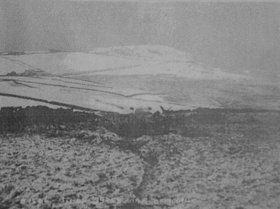 Accident report photograph of the crash site of Douglas A-20G Havoc 43-9958 at Flash near Leek, Staffordshire