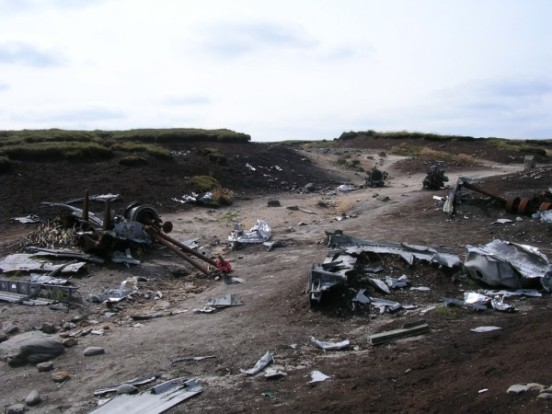 Crash site of Boeing RB-29A Superfortress 44-61999 at Higher Shelf Stones, Bleaklow, Derbyshire