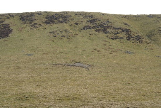 The crash site of B-17 44-8639 on Craig Cwm Llwyd