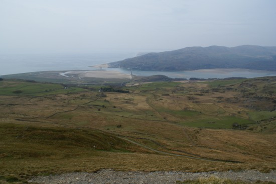 View from the crash site of B-17G 44-8639 on Craig Cwm Llwyd towards Barmouth