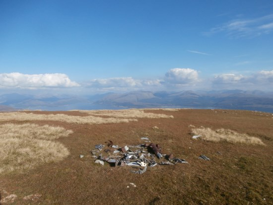 Wreckage from McDonnell F-101C 56-0013 on the summit Maol Odhar, Strontian