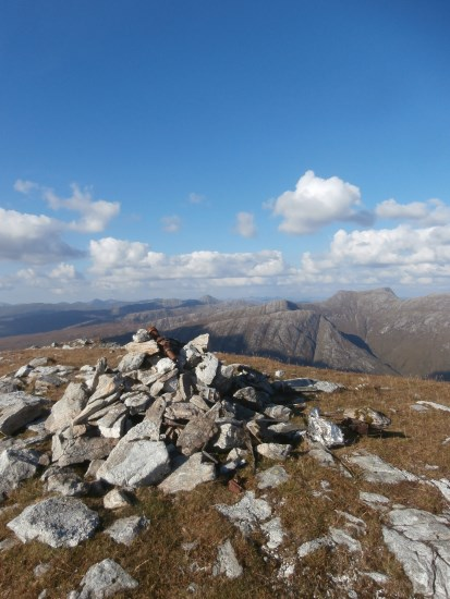 Wreckage from McDonnell F-101C 56-0013 in the summit cairn on Maol Odhar, Strontian