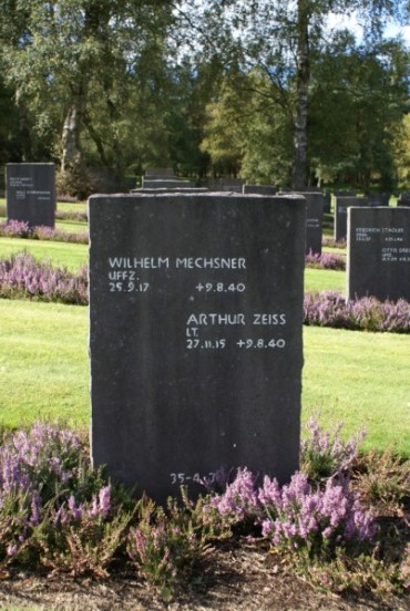 Grave of Wilhelm Mechsner and Arthur Zeiss at Cannock Chase German Military Cemetery
