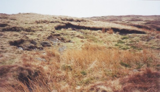 Crater at the crash site of General Dynamics F-111E 68-0081 near Shap, Cumbria