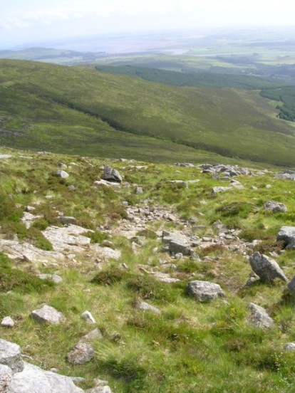 Crash site of McDonnell RF-4C Phantom on Cairnsmore of Fleet near Newton Stewart