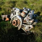 Pratt & Whitney Twin Wasp engine at the crash site of B-26B 8811-B on Distinkhorn, South Lanarkshire