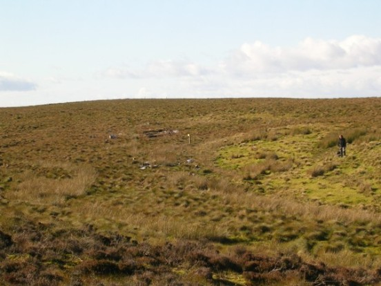 Crash site of Douglas B-26B 8811-B on Distinkhorn, South Lanarkshire