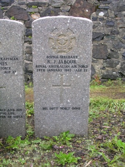 Sergeant Roy John Jabour's Grave at Bowmore, Islay