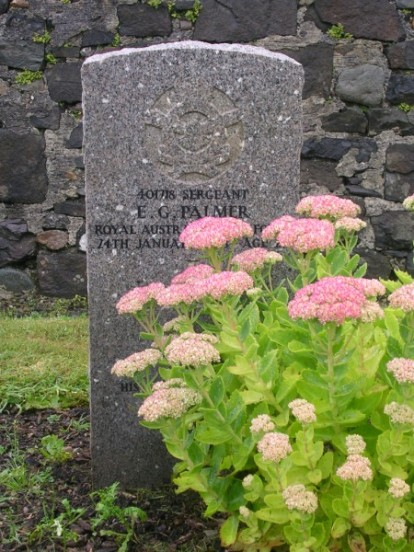 Sergeant Ernest Geoff Palmer's Grave at Bowmore, Islay