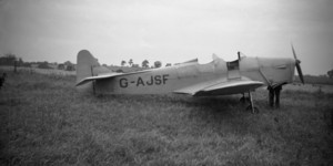 Miles Hawk G-AJSF before it crashed