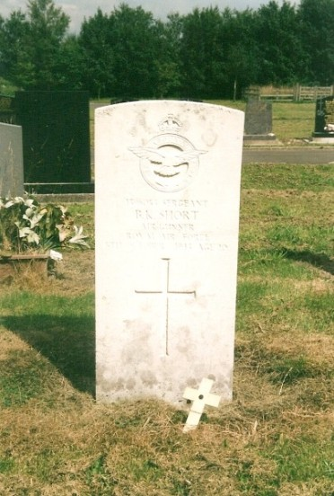 Grave of Sergeant Boris Karl Short at Buxton Cemetery