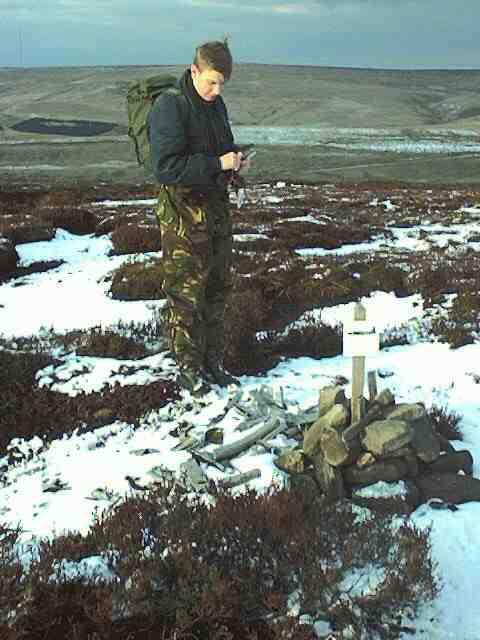 Crash site of Vickers Wellington Mk.IC R1011 on Birchen Bank Moor, Bleaklow near Woodhead