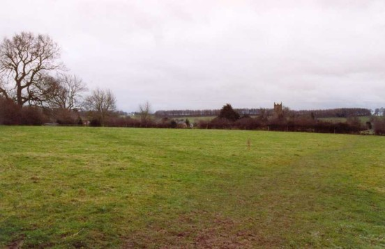 The field in which Vickers Wellington Mk.X LP397 crashed, close to the village of Mayfield, Staffordshire