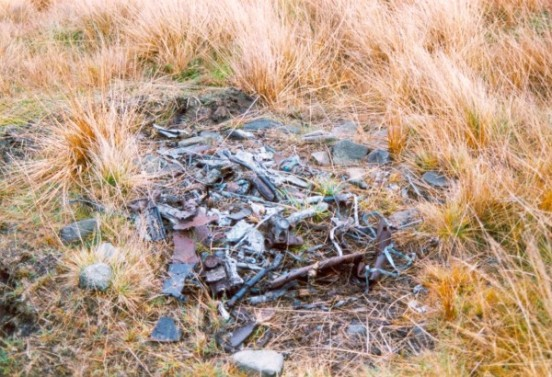 Wreckage of Fariey Barracuda MD963 above Redbrook Clough, Marsden, West Yorkshire