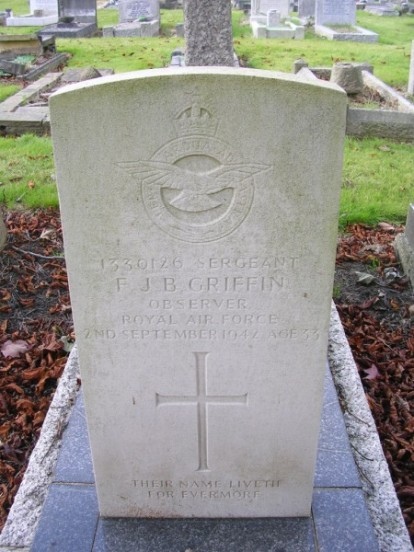 Grave of Sergeant Francis John Bliss Griffin at Harrow Pinner New Cemetery, London
