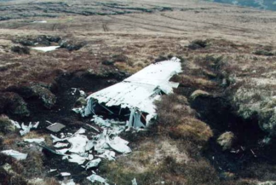 Port wing formerly at the crash site of Armstrong Whitworth Whitley N1498 on Carn a Choire Mhoir, near Tomatin