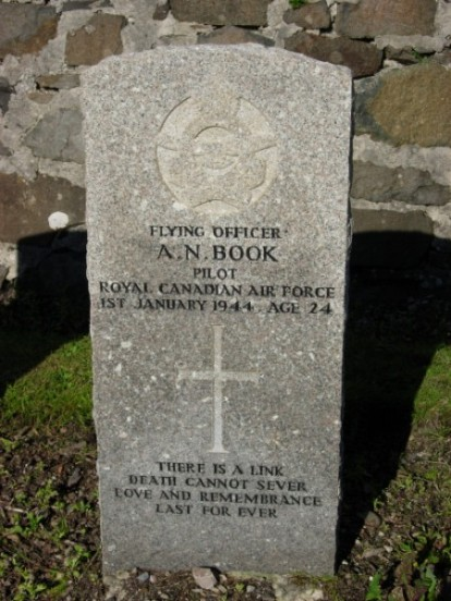 Grave of Flying Officer Archibald Neville Book at Bowmore parish church