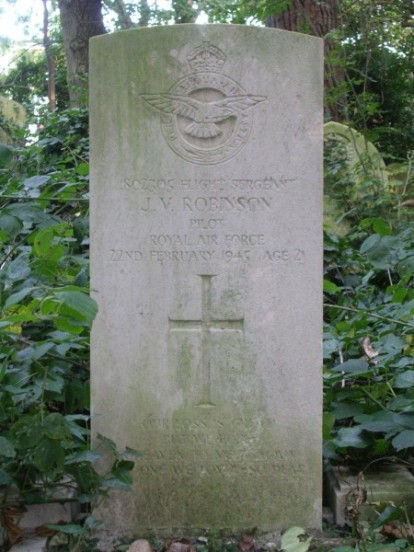 Grave of Flight Sergeant John Victor Robinson at Abney Park Cemetery, London