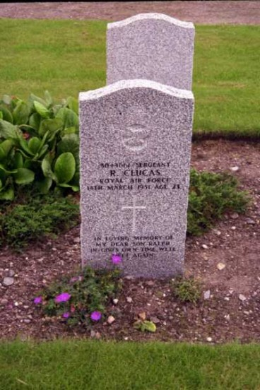 Grave of Sergeant Ralph Clucas at Kinloss Abbey